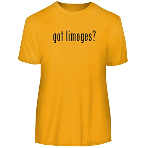 One Legging it Around got Limoges? - Men's Funny Soft Adult Tee T-Shirt, Gold, X-Large ()