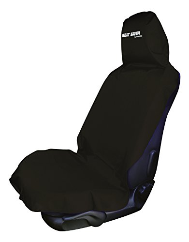 SEAT SAVER - Waterproof Removable Universal Car Bucket Seat Cover - Easy on and Off (Black)