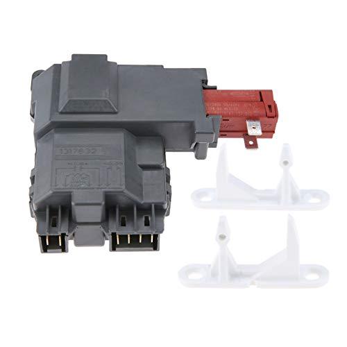 (131763202 Washer Machine Door Lock Switch, Replace # 1032664 131763300 & 131763310 Door Striker, Replace # 1032664 131763300, Update Replacement Part Fit for Frigidaire, Whirlpool, Kenmore)
