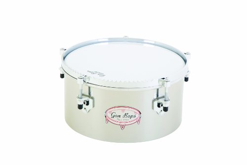 Gon Bops Stainless Steel Timbale, 12-inch, with Guiro Hoop a