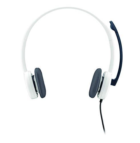Renewed  Logitech H150 Stereo Headset  Cloud White