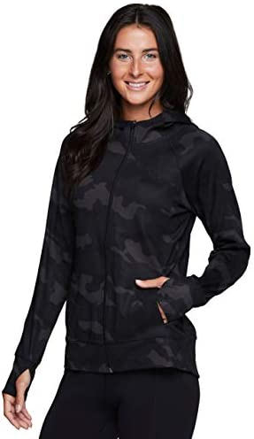 RBX Active Women's Athletic Breathable Lightweight Zip Up Running Jacket with Pockets