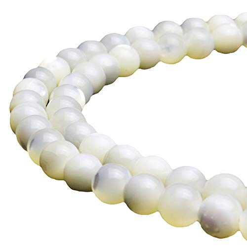 JARTC Natural White Pearl Oyster Round Loose Beads for Jewelry Making DIY Bracelet Necklace (4mm)
