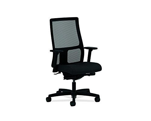 HON Ignition Series Mid-Back Work Chair - Mesh Computer Chair for Office Desk, Black - High Chair Back Pneumatic Series