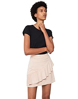 Mango Women's Ruffled Skirt
