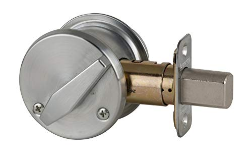 Schlage B560BD-626 Grade 2 Deadbolt-Single Cylinder, Less Small Format Interchangeable Core (SFIC), 626 - Satin Chrome, Adjustable 2-3/8 Or 2-3/4