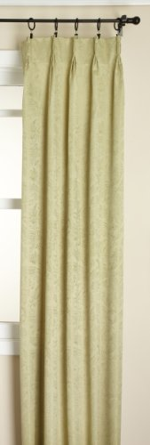 Stylemaster Gabrielle Pinch Pleated Foam Back Drape Pair, Sage, 48 by 63-Inch