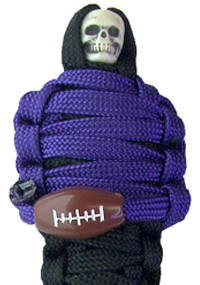 The Deal庁のExclusive Mummys ProフットボールNFLチームカラーPlayerパラコードキーチェーン – Baltimore Ravens色   B075J5ZBCP