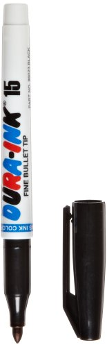 Markal Dura-Ink Permanent Ink Marker with Fine Bullet Tip, Black (Pack of 12), Office Central