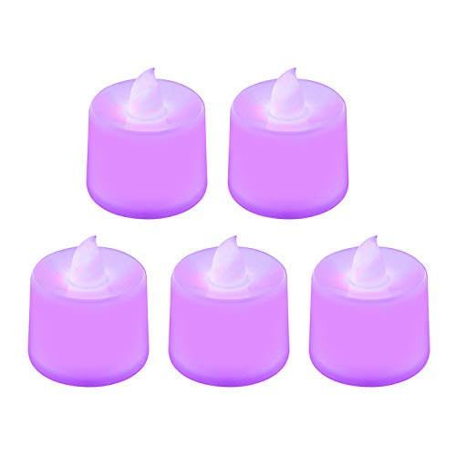 1Pc LED Candle Lamp Multicolor Color Wedding Home Birthday Party Decoration Cake Candles,Purple
