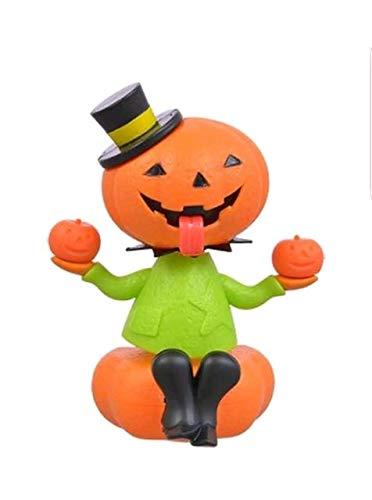 Solar Powered Dancing Halloween Pumpkin with Green Shirt -