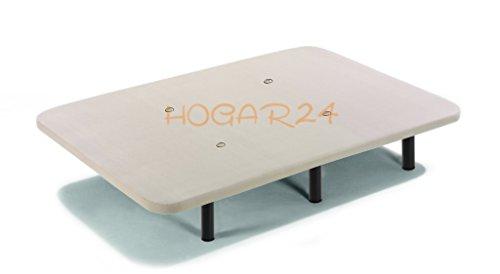 HOGAR 24 Base Tapizada con Tejido 3D y Valculas de Transpiracion y 6 Patas De Metal De 25 5 cm, 135x190cm