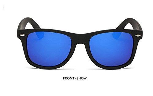 Marin polarisées rétro Lunettes de Huateng soleil Bleu hommes et lunettes soleil de UV400 femmes w1fwFO