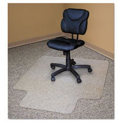 - Recycled Chair Mats For Carpets, 48 x 36, Slightly Tinted