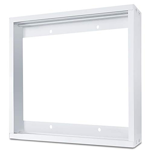 Frame Kit, Aluminium Surface Mounting Bracket Kit for LED Panel Light, Drop Ceiling Light, Edge-Lit Light (White Drywall Flange Kit) ()