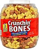 Triumph Pet Dog Treat Crunchin Bones Barrel 30 oz . (1.87lbs) 850g For Sale