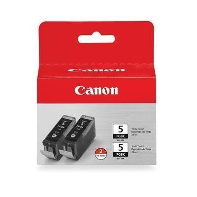 Canon PGI-5 BK 0628B009 2-Pack Pigment Black Ink Tanks (Canon Pixma Mx850)