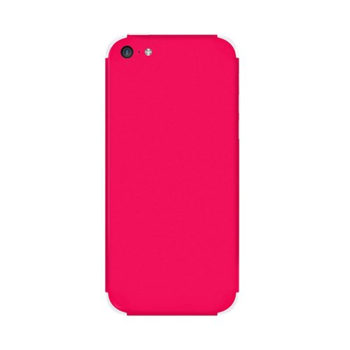 Slickwraps Color Collection Protective Film for iPhone 5c - Pink - Skin - Retail Packaging - Pink