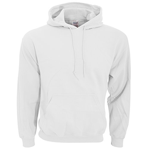 Gildan Adult Heavy Blend Hooded Sweatshirt (White) (Small) Adult Hooded Fleece Pullover