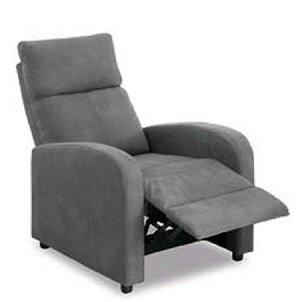 Sillón Relax Reclinable Manual Domus tapizado en Tela Gris o ...