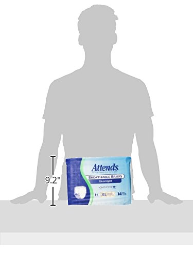 Amazon.com: Attends Highly Absorbent Overnight Briefs for Adult Incontinence Care, X-Large, Unisex, 14 Count (Pack of 2): Health & Personal Care