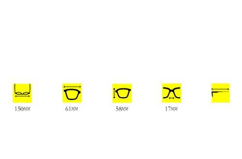 Gafas Mirror Color Gafas polarizadas Visor X222 de Driver sol Sun A Mirror B aWddFqv18R