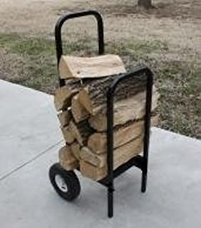 44in x 18in x 15in Quality Brand Company QBC Woodhaven Firewood Rack WRPELCARTWH Pellet or Firewood Cart Black