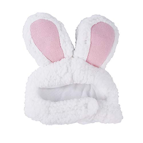 Pausseo Easter Pet Hat Bunny Rabbit Ears Cap Plush Decorations Headband Headgear Comfortable Headdress Party Costume Accessory Headwear Gift for Cats & Small Dogs