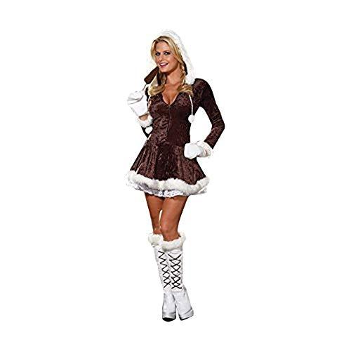 Dreamgirl Women's Eskimo Cutie Costume, Brown, Small ()