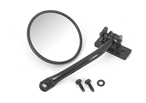 Rugged Ridge 11025.10 Black Quick Release Mirror Relocation - Ridge Rugged Relocation Mirror Brackets
