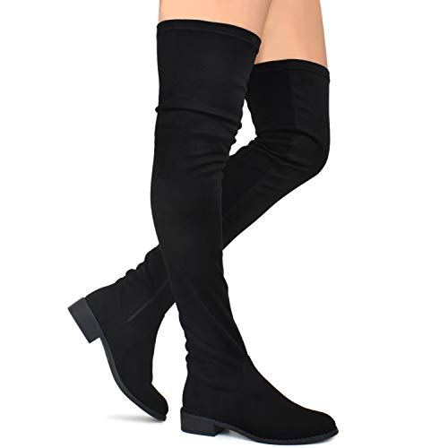 148b66735da6 Premier Standard - Women's Fashion Comfy Vegan Suede Block Heel Thigh High  Over The Knee Boots - Buy Online in Oman. | Shoes Products in Oman - See  Prices, ...
