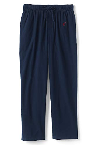 Lands' End Men's Flannel Pajama Pants, S, Classic Navy