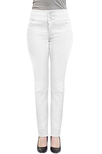 Per amp; V Company Donne Jeans Hybrid Bianca Elastici Comodi 7xZnEYw