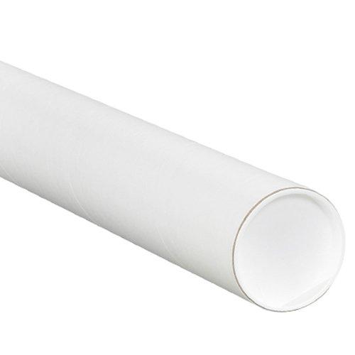 Aviditi P3024W Mailing Tubes with Caps, 3