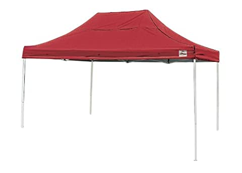 10x15 Straight Leg Pop-up Canopy, Red Cover, Black Roller Bag - Shelterlogic Canopy