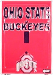 Ohio State Buckeyes Metal Light Switch Cover ()