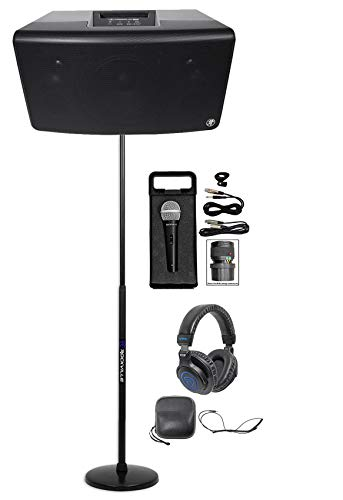 10' Neodymium Woofer - Mackie FreePlay LIVE Rechargeable DJ PA Bluetooth Speaker+Stand+Mic+Headphones