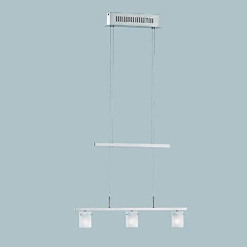 Fischer Leuchten < 14973 Pendelleuchte Nickel matt Hängelampe Deckenlampe Modern 3-Flammig