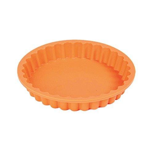 Quicheform Silikon Ø 12 cm, Premium-Qualität made in Italy, 100 % Platin-Silikon, Tortenbodenform, Tortelettförmchen, Tortenform, Rundform, Obstkuchenform, Silikonbackform, Backform, Tarteform, Kuchenform mit Geschenkbox von Pavonidea (Mini)