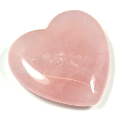 "1"" Rose Quartz Heart Crystal, Healing Stone for Heart Chakra and Positive Energy, Rose Quartz Crystal Heart Shape, Love Heart Crystal"
