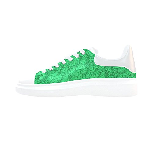 Honey Day House Custom Vintage Floral Lace Leaf Mint Shamrock Green Pegasus Low Top Loafers Womens Fashion Sneakers