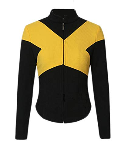 X-Men Team Shirt with Yellow X Design Cool Cosplay Costume Suit Mens XL ()