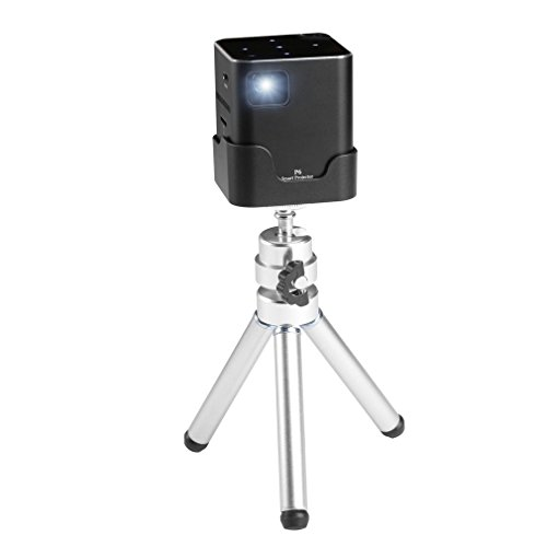 LESHP Cube Pico Video Projector with 120 Inch Display, Mobile Portable Mini Projector 30,000 Hour LED Compatible with HDMI for Laptop Game iPhone Andriod Smartphone - Includes Mini Tripod by LESHP
