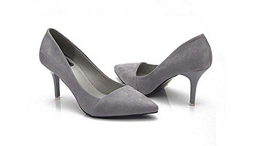 peu chaussures hautes sandales basse de pointues la profondes aider talons mode gray pengweiChaussures bouche les pour pfqxEw55