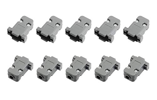 (Karcy 5 Set Plastic DB9 RS232 Male Female Connector Hoods Back Shells Gray)