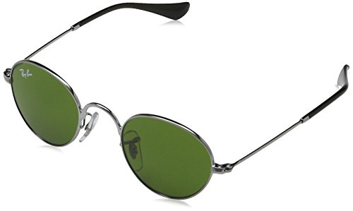 Ray-Ban Junior Men's 0RJ9537S Round Sunglasses, Gunmetal, 40 - Ray 40 Ban