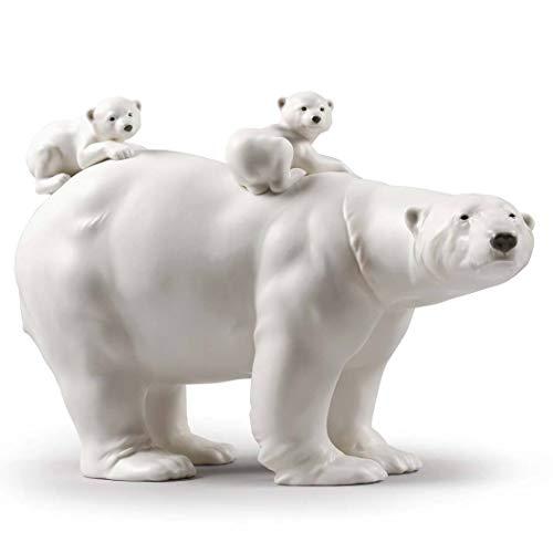 Lladro Mummy Bear and Babies Figurine 01009290