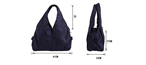 Versión coreana de la bolsa de hombro de señoras bolso casual marea bolsa de baile multi-bolsillo bolso de la bolsa de la luz bolso de la luz ( Color : Rosa Roja ) Deep rose red