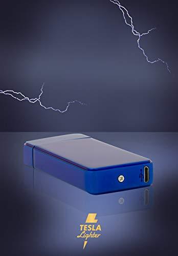 Tesla de Lighter T11 Luz Arco - Mechero USB recargable Double Arc ...