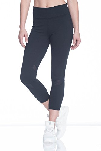 GAIAM Women's Om Yoga Capri Pant Performance Spandex Compression Legging - Black, X-Large